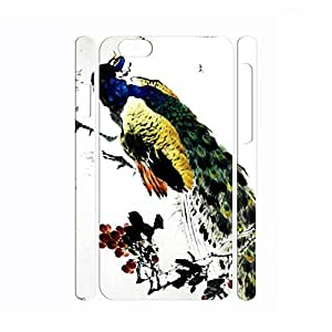 Flexible Bird Series Peacock Pattern Personalized Hard Plastic Phone Accessories for Iphone 6 Plus - 5.5 Inch by mcsharks