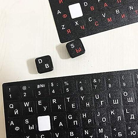 LUGEUK Etiquetas engomadas Rusas del Teclado Etiquetas engomadas de la Letra de la Tabla de la ra/íz del Ordenador port/átil del Teclado del Teclado Color : C