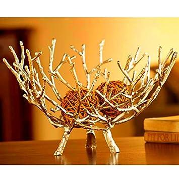 Decorative Metal Fruit Bowls Dipamkar Large Beautiful Gold Decorative Metal Fruit Bowl Tray 1