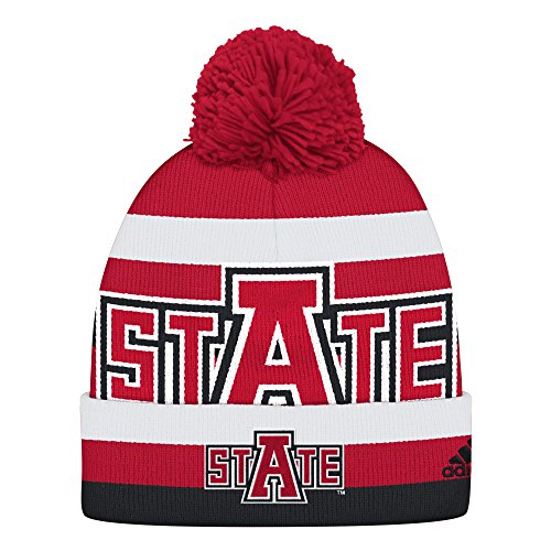 NCAA Arkansas State Indians Men's Oversized Logo Cuffed Knit, Red, One Size