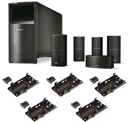 Bose-Acoustimass-10-Series-V-Home-Theater-Speaker-System-Black-Bundle-with-5-SlideConnect-WB-50-Wall-Brackets