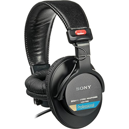 Sony MDR7506 Professional Large Diaphragm Headphone (International Model) No Warranty