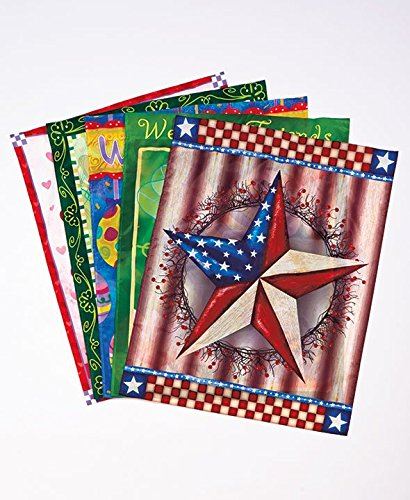 Seasonal Flags Set of 5 Jumbo