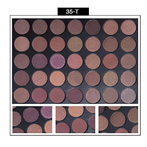 NOMENI Eyeshadow,2017 35 Colors Shimmer Matte Eye Shadow Eyeshadow Palette Pro Cosmetic Makeup Tool,275g,35 Colors/Palette (F) (Cargo Color Eye Shadow Palette)