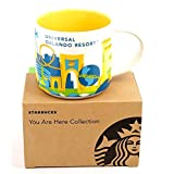 Universal Studios Orlando You Are Here (YAH) 14 Ounce Starbucks Mug. and NWT NIB