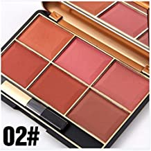 FantasyDay Pro 6 Colors Large Compact Powder Blush/Cheek Contouring Blusher Makeup Palette Contouring Kit #2