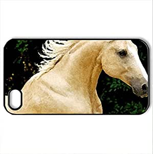 Palomino Horse - Case Cover for iPhone 4 and 4s (Horses Series, Watercolor style, Black) Kimberly Kurzendoerfer