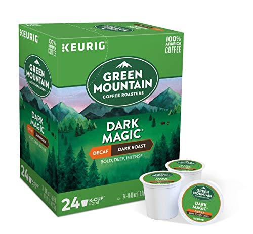 Green Mountain Coffee, Dark Magic Decaf, Single-Serve Keurig K-Cup Pods, Dark Roast Coffee, 96 Count (4 Boxes of 24 Pods