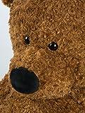 Soft Stuffed Animal 4.3 Feet Life Size Giant Big Buddy Teddy Bear Cuddly Fuzzy Plush Gift Toy Decoration 51 Inches Dark Brown By HollyHOME