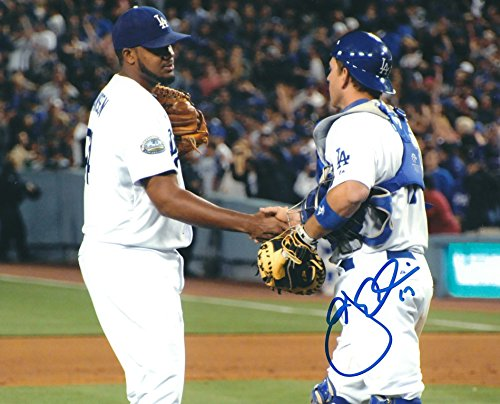 Autographed A.J. Ellis 8x10 Los Angeles Dodgers Photo Autographed Dodgers 8x10 Photo