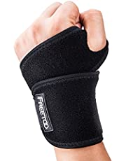 FREETOO Adjustable Wrist Support Breathable Wrist Braces Provide Hand Support for Fitness, Bench Press, Weightlifting One Size Fits Left or Right Hand