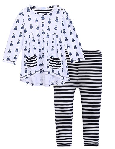 Outfit Children Clothing - Arshiner Little Girls Outfits Cute Bunny Long Sleeve Top & Pants Clothes Set