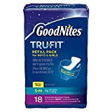 Baby : GoodNites TRU-FIT Disposable Absorbent Inserts for Boys & Girls, Refill Pack, Size Small/Medium, 18 ct (Pack of 3)