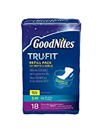 GoodNites TRU-FIT Disposable Absorbent Inserts for Boys & Girls, Refill Pack, Size Small/Medium, 18 ct (Pack of 3) BOBEBE Online Baby Store From New York to Miami and Los Angeles