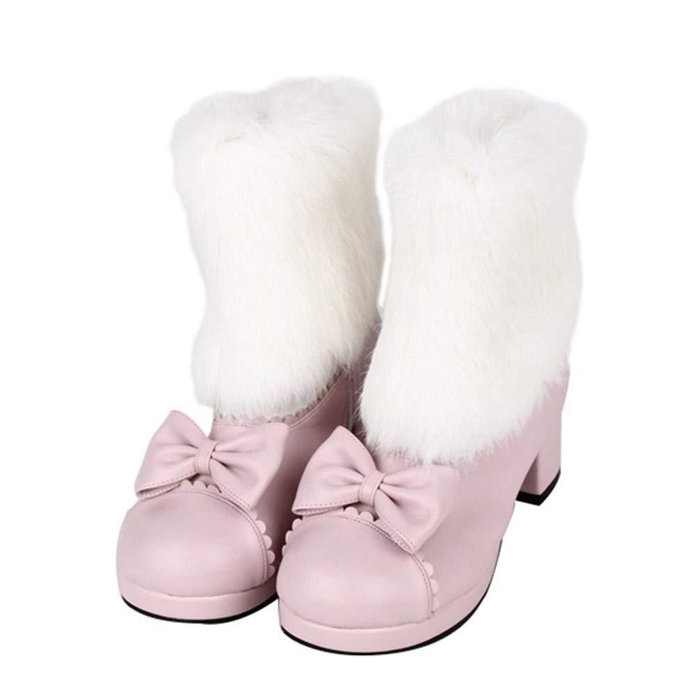 PINGXIANNV Lolita Damenschuhe Schleife Stiefeletten Süß Süß Kleid Stiefel B07J2BJYDV Tanzschuhe Qualität und Quantität garantiert