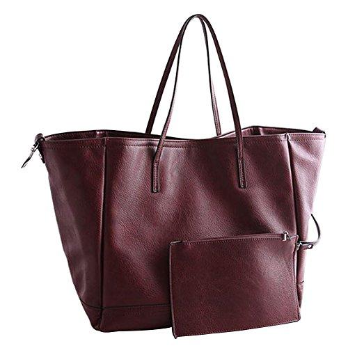 32 Wealsex 20 Femme Grande Sac Main Cuir CM Mode tout Brun A Taille 35 Bordeaux Shopping Elégant Fourre Souple Bordeaux OL Noir TfqUnTr
