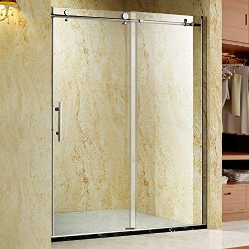 "Generic MDB-US9...4481..8....Stainless Steel Hardware ess S Sliding Bath h Showe 3/8"" Glass Frameless ramel Shower Door 8"" Glas NV_1008004481-MJT-US55"