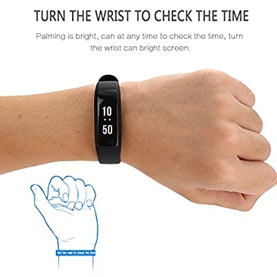 AOKII Sport Wristband with Multi-Functions Activity Smart Bracelet Pedometer,WatchHeart Rate Monitor,Wirless Fitness Tracker