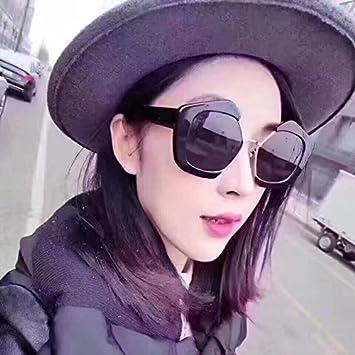 xinhao Lunettes de soleil simple et confortable Mouvement der classiques Anti UV–lunettes de soleil lunettes de soleil rétro Lady verdorbene Verres, Black box