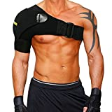 Shoulder Stability Brace with Pressure Pad by Babo Care - Breathable Neoprene Shoulder Support for Rotator Cuff, Dislocated AC Joint, Shoulder Pain, Compression Sleeve with Adjustable Wrap Strap Band