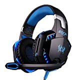 BENGOO EACH G2000 Professional Noise Canelling 3.5mm PC Stereo Headband Gaming Headphone Headsets Headphones Earphones with MIC Volume/LED Lights/Voice Control Microphone HiFi Drive