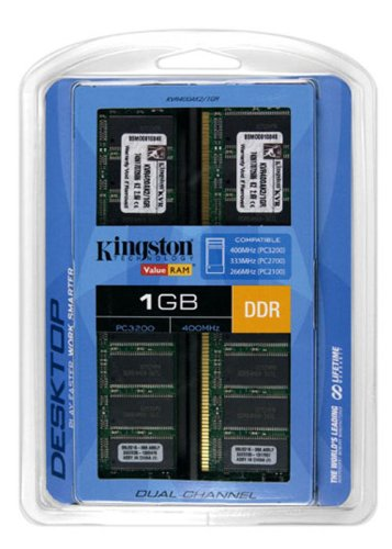 Module Kingston Sdram Memory 512mb (Kingston ValueRAM 1GB Kit (2x512MB Modules) 400MHz PC3200 DDR Desktop Memory (KVR400AK2/1GR))