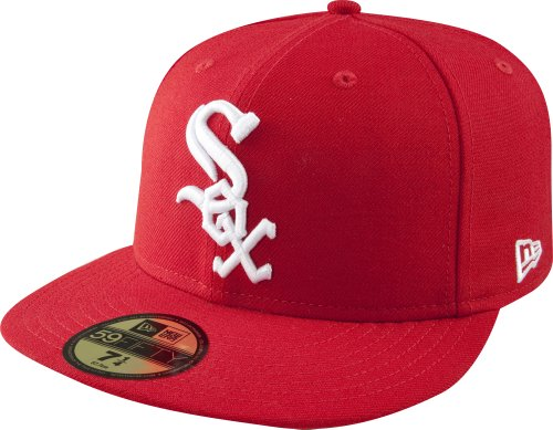 MLB Chicago White Sox Scarlet with White 59FIFTY Fitted Cap, 7 7/8
