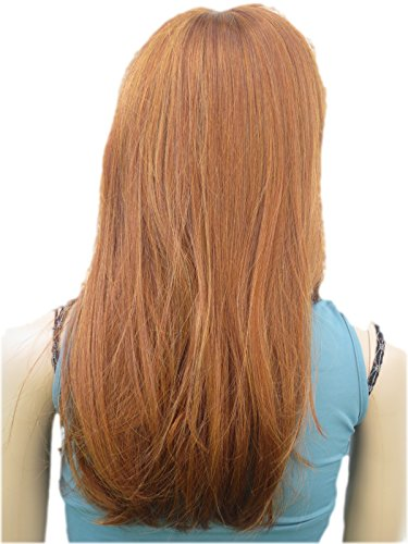 (NEW) WIG PERRUQUE LONG NATURAL FIRE RED GINGER (Style ESME) [Misc.] Synthetic (Long Ginger Wig)