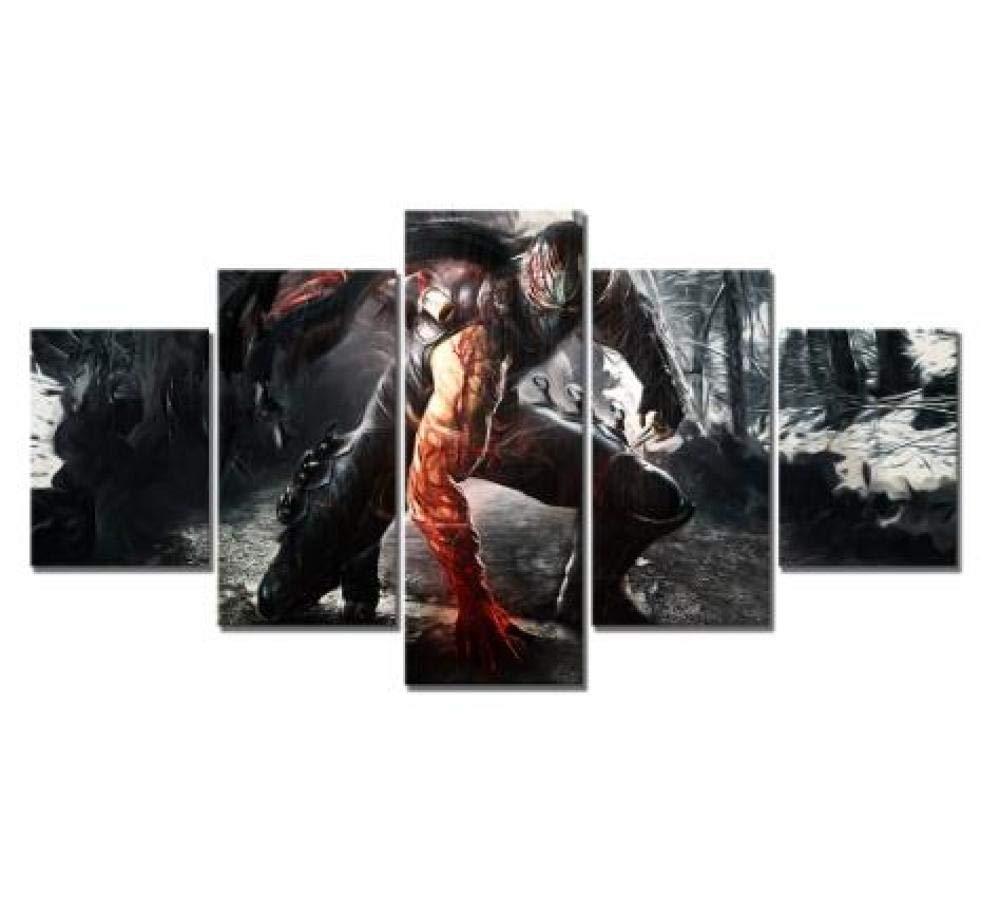 WLHZNB Impresiones sobre Lienzo 5 Unids Imagen HD Ryu ...