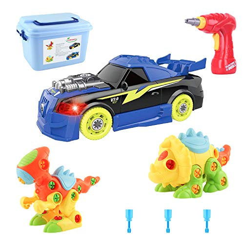 MEIGO Dinosaur Toys - Toddlers STEM Learning Take Apart Toys Construction Engineering Building Play Set for Kids 3 4 5 6 Year Old Boys Girls
