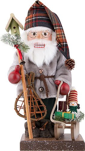 German Christmas Nutcracker Santa Claus with sleigh, limited - 46,0cm / 18.1inch - Christian Ulbricht by Authentic German Erzgebirge Handcraft