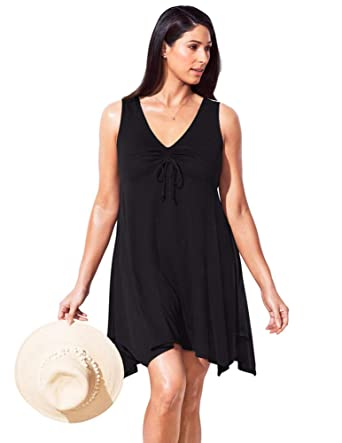 2bd6ac28ca2 Swimsuits For All Women s Plus Size Swimsuit Cover Up Dress 10 Black