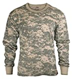ACU Digital Camouflage Mens Army Digital Camo Long Sleeve T-shirt, Size X-Large