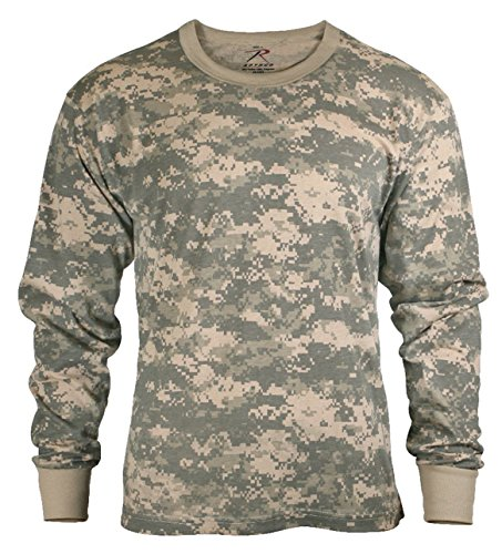 ACU Digital Camouflage Mens Army Digital Camo Long Sleeve T-shirt, Size Large