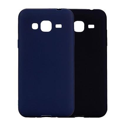 Funda Samsung Galaxy J3 2016, 2Unidades Carcasa Samsung J310 Silicona Gel, OUJD Mate Case Ultra Delgado TPU Goma Flexible Cover para Samsung Galaxy ...