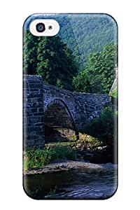 Iphone 4/4s Case Cover - Slim Fit Tpu Protector Shock Absorbent Case (serene English Countryside)
