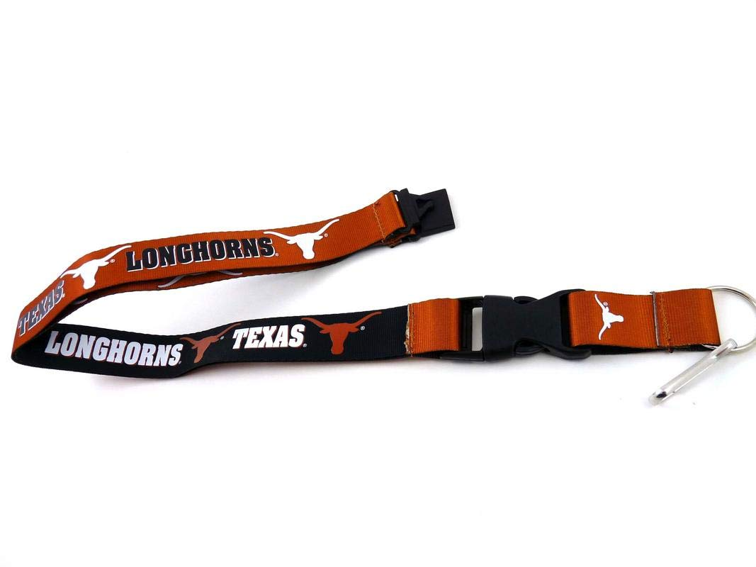 and Metal Keychain Gift Bundle Logo Lapel Pin aminco NCAA Texas Longhorns Team Reversable Lanyard