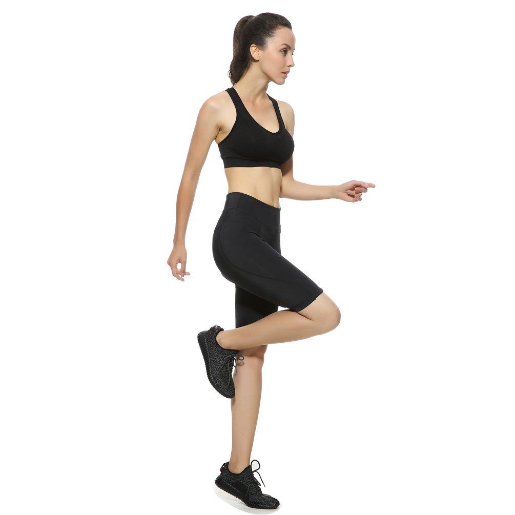 XS 4u-lmd-women-shorts-xs 4ucycling Womens Cycling Spinning Padded Shorts Black UPF 50