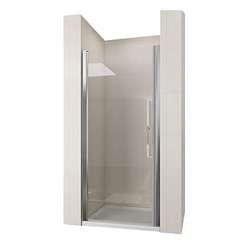 Duschkabine 70 x 195 cm Duschtür Pendeltür Duschabtrennung Echtglas ...