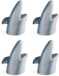 Under The Sea Aquatic Shark Ceramic Tiki Mug - Set of 4