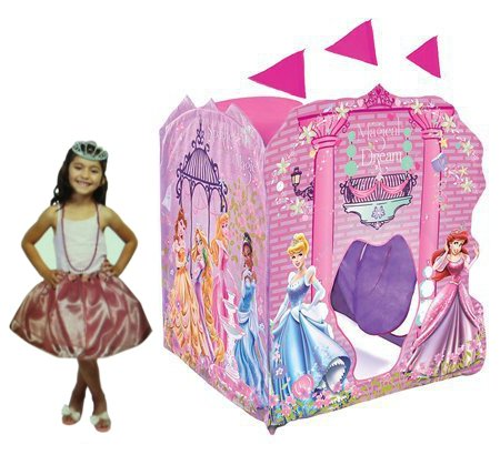 Fold Playhut (Playhut Disney Princess Super Playhouse with Princess Accessories (Crown and Shoes))