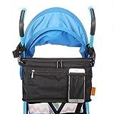 Stroller Organizer, Insulated Cooler Bag with Diaper Bag for Pram Jogging Umbrella Strollers