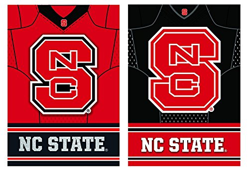 Team Sports America North Carolina State Wolfpack Double Sided Jersey Suede Garden Flag, 12.5 x 18 inches (North Carolina Away Jersey)