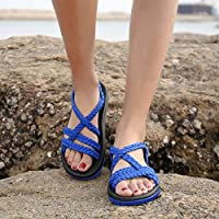 88e794d9f410f QLEYO Women's Comfortable Flat Walking Sandals with Arch Support ...