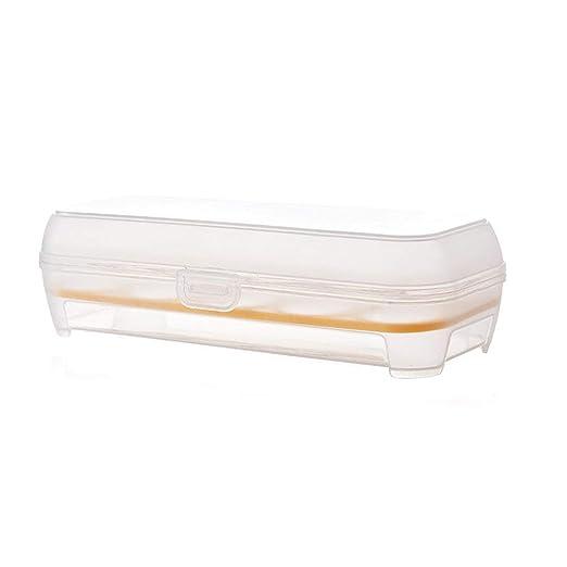 TrifyCore Nevera Huevos Caja de Almacenamiento plástico ...