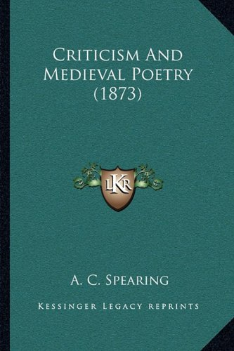 Criticism And Medieval Poetry (1873) pdf