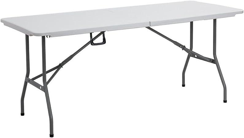 Mesa plegable resistente de 183 cm, para catering, acampada ...