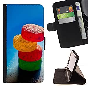 Momo Phone Case / Flip Funda de Cuero Case Cover - Caramelo de azúcar;;;;;;;; - Samsung Galaxy S6 Active G890A