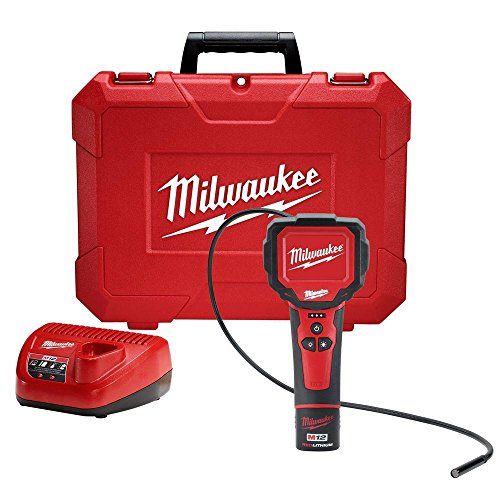 M12 Lithium Ion Led (Milwaukee M12 12-Volt Lithium-Ion Cordless M-Spector 360 Degree Digital Inspection Camera Kit | Hardware Power Tools for Your Construction or Jobsite)