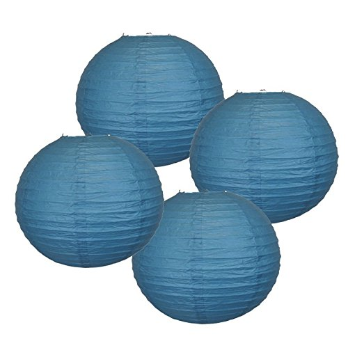 Just Artifacts 様々な紙製ランタン(色とサイズの異なる紙のランタン) 8inch AMZ-RPL4-080022 B01EGXK2K4 8inch|ダークブルー ダークブルー 8inch